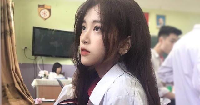 Xinh đẹp 'xuất thần' với bức hình chụp lén của nữ sinh Hà Thành - Ảnh 1