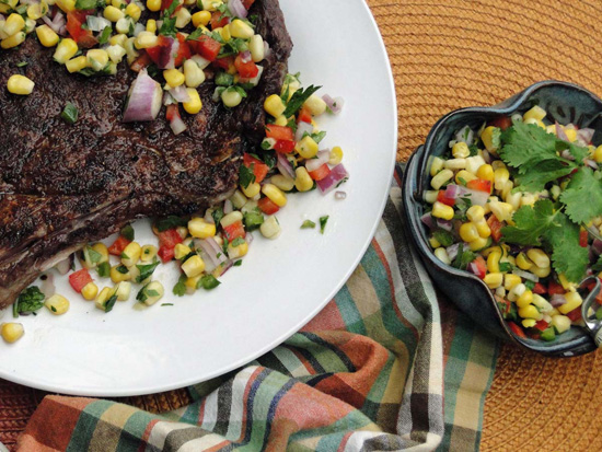Chili Rub Steak With Corn Salsa Recipe