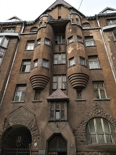 edificio art nouveau alberta iela