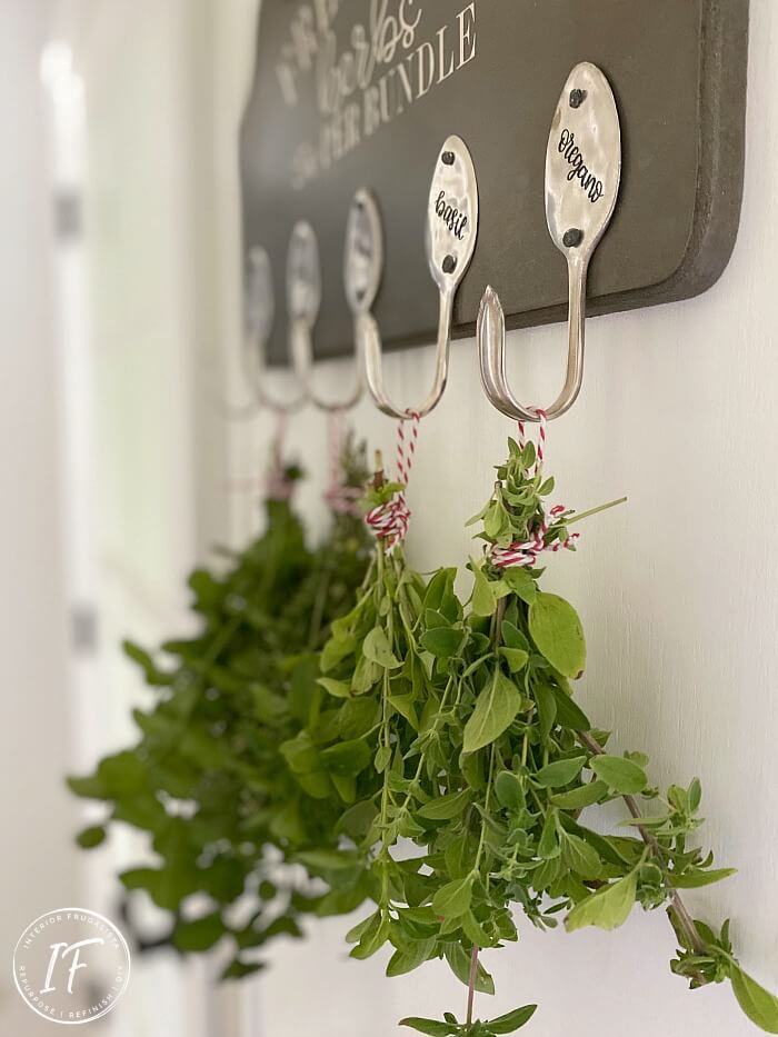 DIY Kitchen Herb Rack