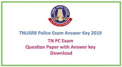 TN Police Constable Answer Key 2019 pdf Download