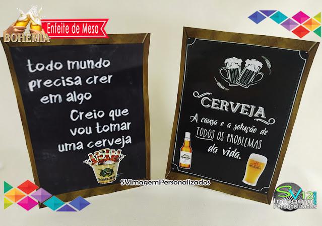 Boteco Cerveja Bohemia dicas e ideias para decoração de festa personalizados enfeite display de mesa