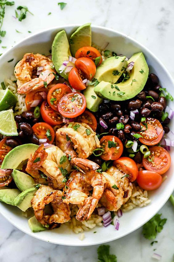 Chipotle Lime Shrimp Bowls #recipes #dinnerrecipes #dishesrecipes #dinnerdishes #dinnerdishesrecipes #food #foodporn #healthy #yummy #instafood #foodie #delicious #dinner #breakfast #dessert #lunch #vegan #cake #eatclean #homemade #diet #healthyfood #cleaneating #foodstagram