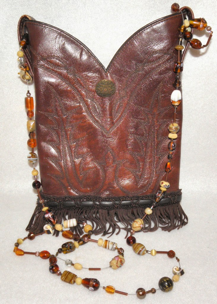 Repurposed Vintage Tony Lama Western Boot Purse