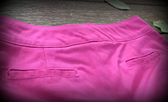 I added welt pockets to the Weston shorts pattern.