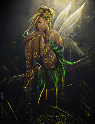 reseña-Peter-Pan, fan-art-campanilla, fan-art-tinkerbell