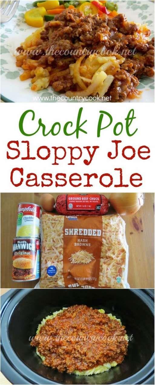 Crock Pot Sloppy Joe Casserole