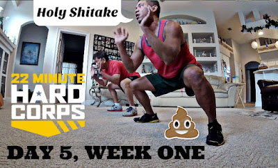 Day 5 Week One 22 Minute Hard Corps Challenge, 22 Minute Hard Corps Cardio 2 Workout, 22 minute hard corps gorilla crawls