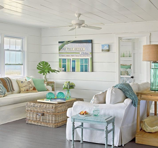 Beach Home Decor Ideas: 26 Small Cozy Beach Cottage Style Living Room Interior