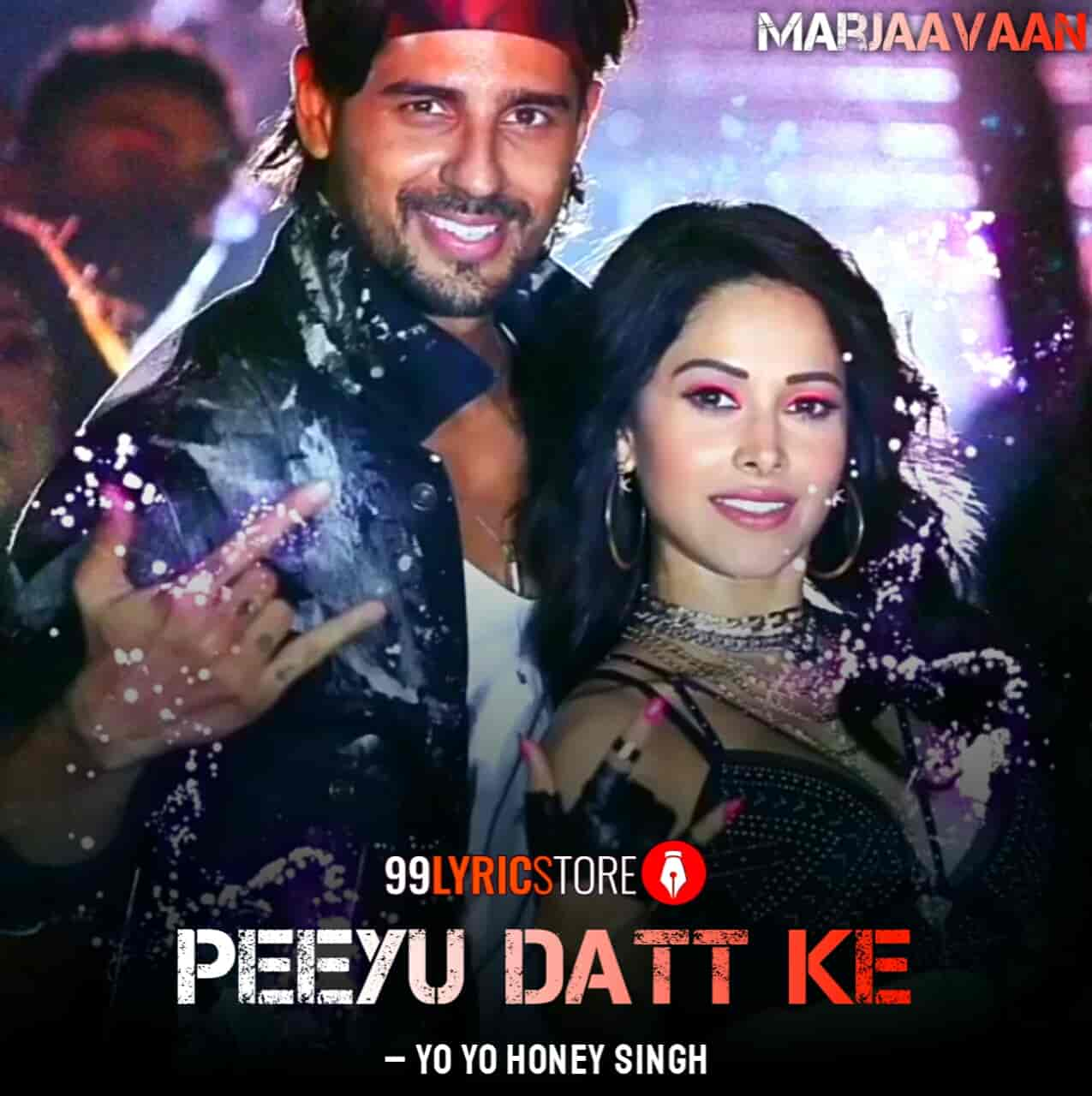 Peeyu Datt Ke Song Images From Movie marjaavaan