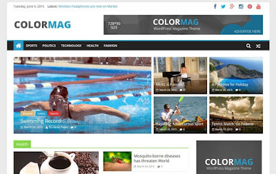 ColorMag новостной шаблон для WordPress 2015