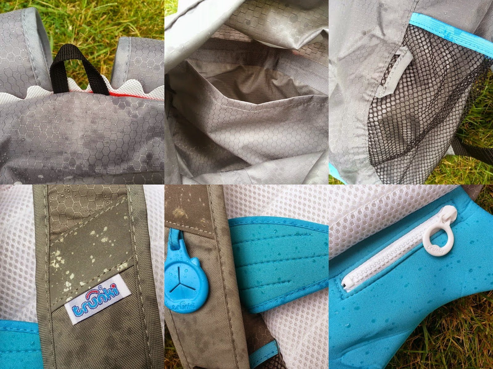 A Paddlepak from Trunki review -details reflective tape straps pockets loops