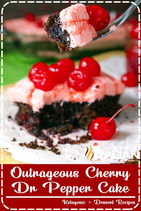 Outrageous Cherry Dr Pepper Cake is an incredibly flavorful cherry chocolate cake recipe  Outrageous Cherry Dr Pepper Cake
