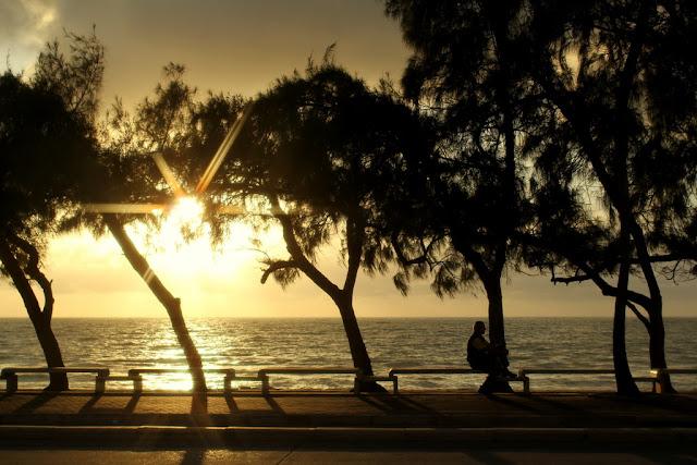 Amanhecer em Recife na praia de Boa Viagem