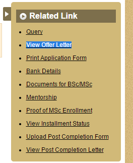 How to Download Offer Letter of INSPIRE Scholarship ExamsDust