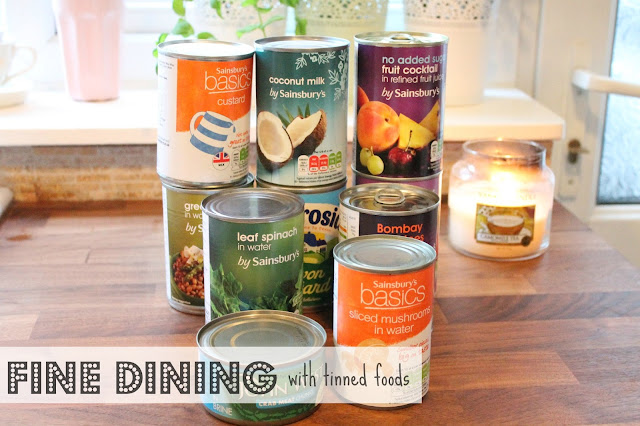 fine dining with tinned foods header image with tins & text over