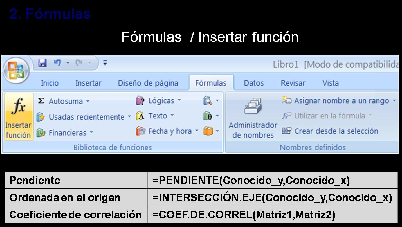 Divulgo, luego existo: Cálculo de regresión en Excel 2007
