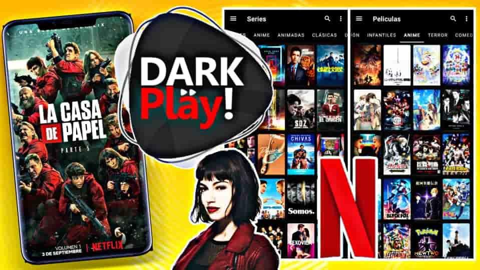DARK PLAY! Máxima APP para ver PELÍCULAS, SERIES, ANIMES y NOVELAS en Android 2021