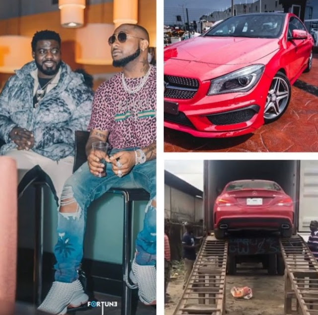 Davido Buys a Mercedes Benz for Friend & Personal Assistant Lati