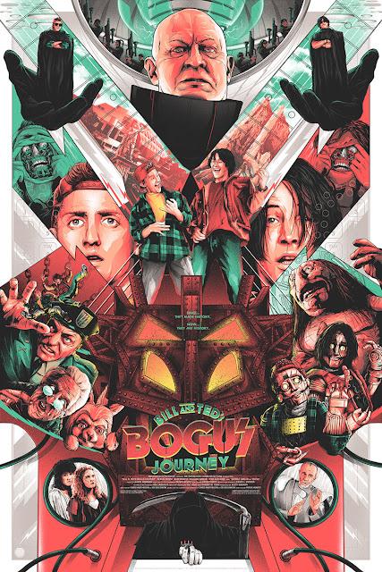 Bill & Ted's Bogus Journey Movie Poster Screen Print by Matt Ryan Tobin x Skuzzles