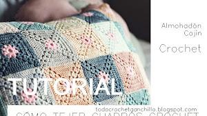 Cómo tejer cuadro sin fin con piñas para almohadón / Tutorial