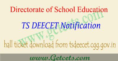 TS Deecet hall ticket download 2020-2021 dietcet Telangana