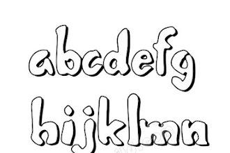 11 Graffiti Schrift ABC Kleinbuchstaben und Alphabet
