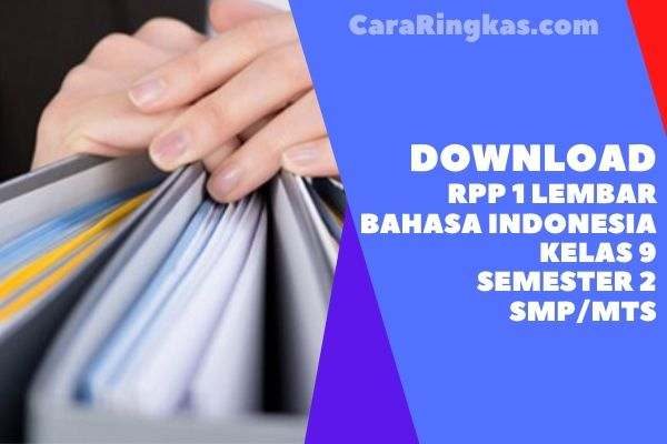 RPP 1 Lembar Bahasa Indonesia