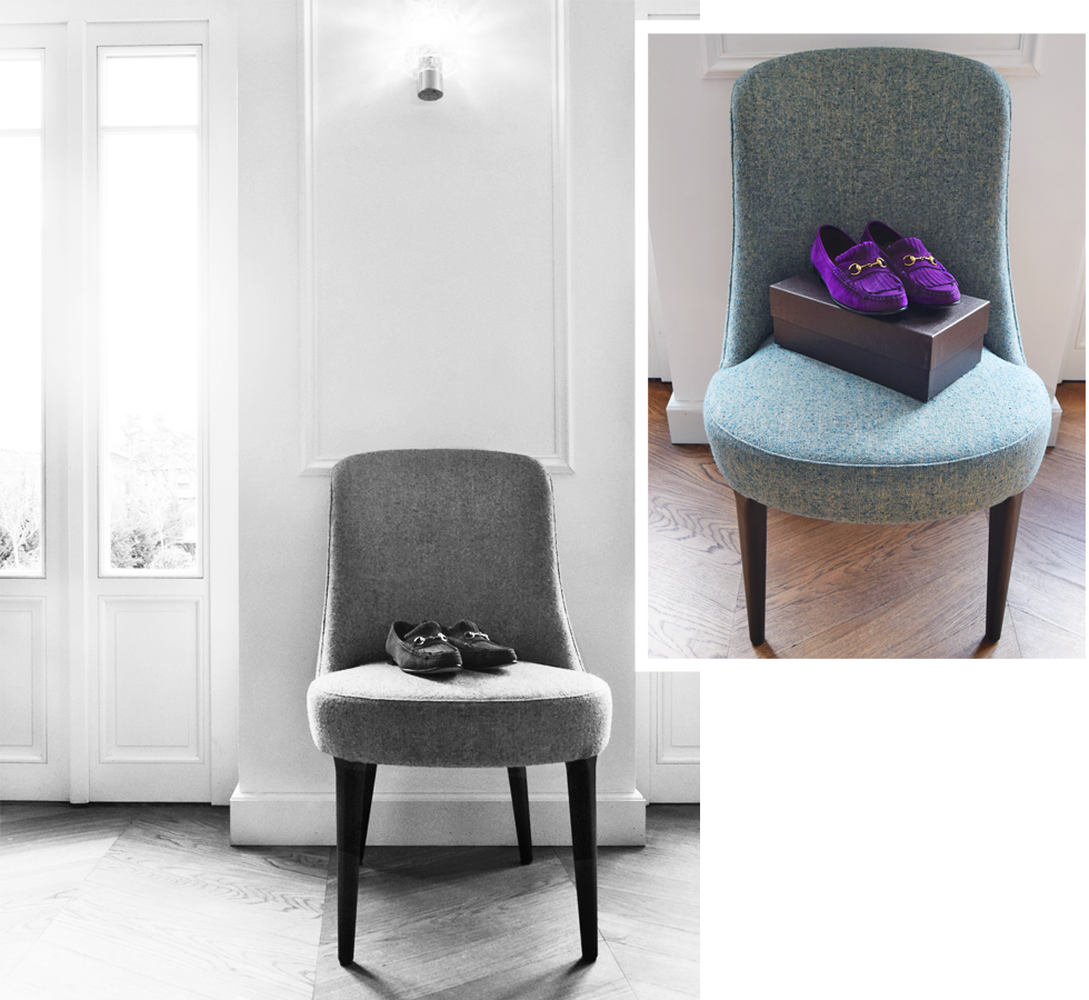 New In, Shopping, Gucci, Marie's Corner, Interior, chair, loafers, pink