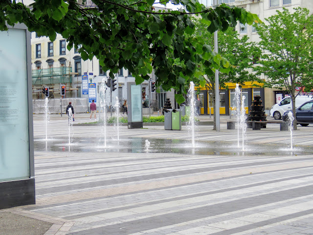 Market Square Water Fountain in Dundalk Ireland