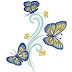 Active butterflies Free Embroidery Design #1132