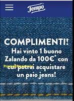 Logo Detto, fatto: al primo colpo vince un buono Zalando da 100€ con i prodotti Tempo! prova anche tu.