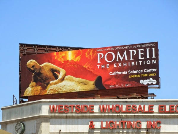 Pompeii Exhibition California billboard