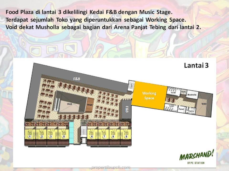 Lantai 3 Marchand Bintaro