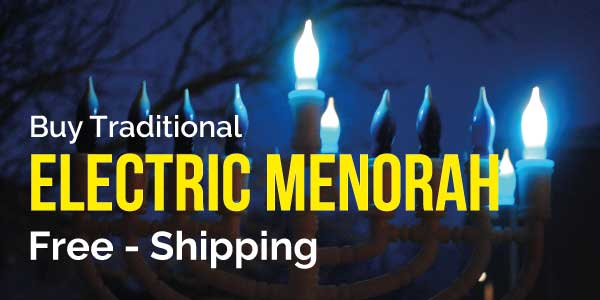 electric menorah hanukkah buy