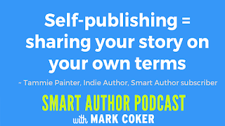 "image reads:  ""Self-publishing = sharing your story on your own terms"""