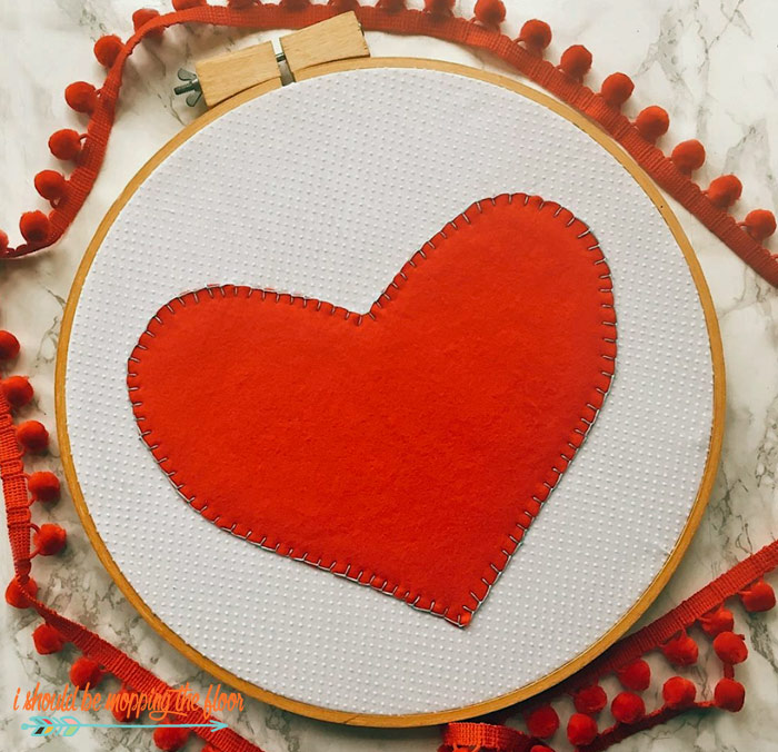 Heart Hoop Art