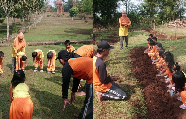 Asyiknya outbound di Cantigi Camp