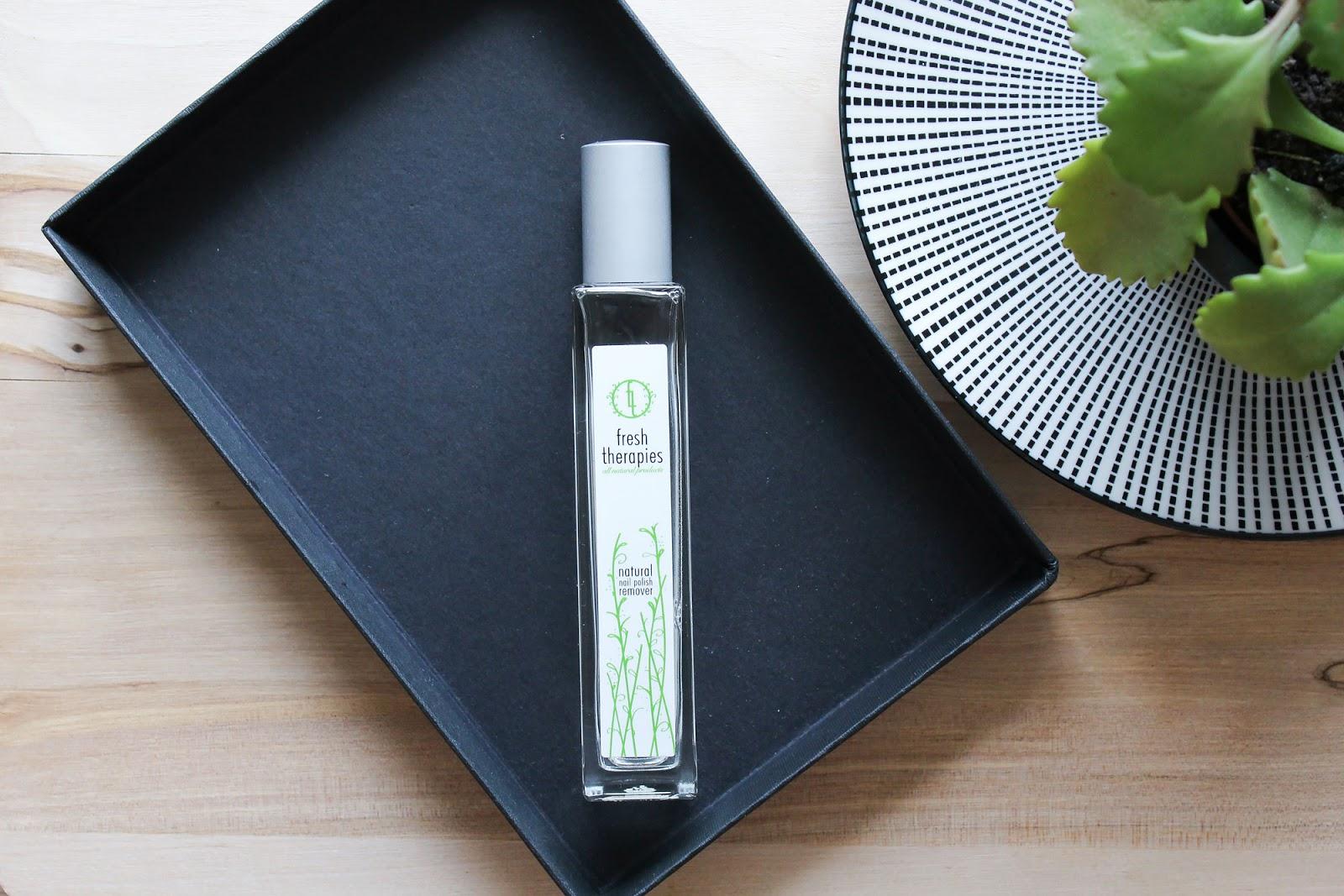 Fresh Therapies Natural Nail Polish Remover | Small Bits of Loveliness