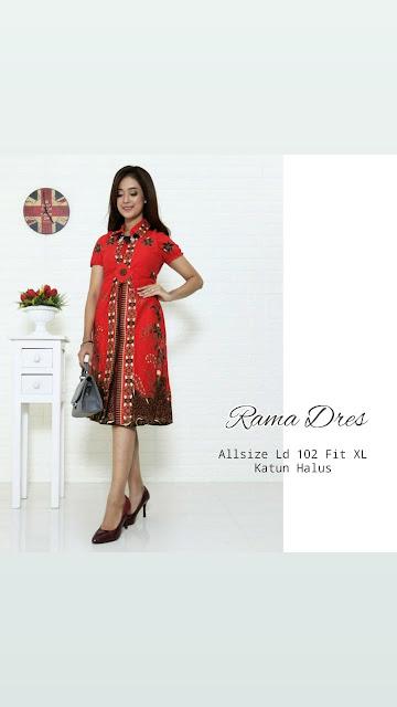 Dress-Batik-Rama-Merah