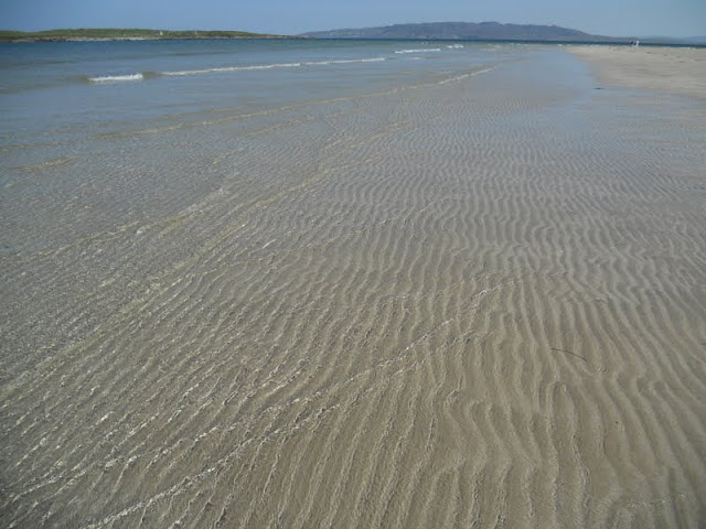 Places to see on Donegal Road Trip: Rippling sand at Narin Beach