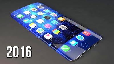 Smartphone curvo sin borde, pantalla tactil