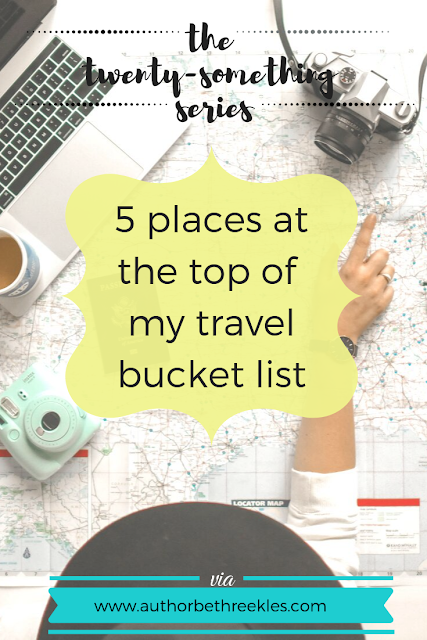 I've been lucky enough to travel a lot for my day job and my work as an author - but there are still a few places I'd love to see! In this post, I share the top five locations on my travel bucket list.