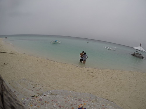 At Virgin Island in Bantayan Island