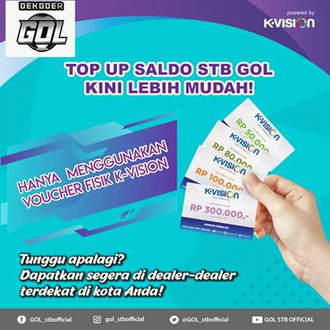 cara top up stb gol