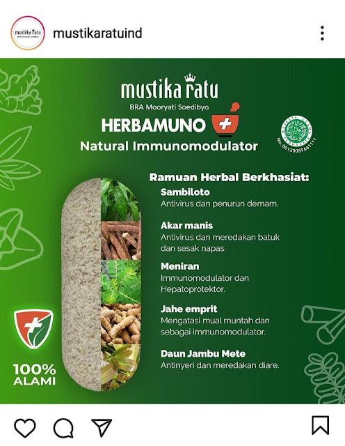 Kandungan herbal Herbamuno+ dari Mustika Ratu