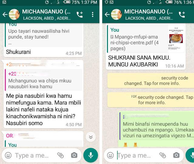 mrejesho wa wadau mbalimbali kwenye group la Michanganuo-online