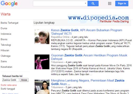 Ilustrasi Profil Zaskia Gotik - Dipopedia