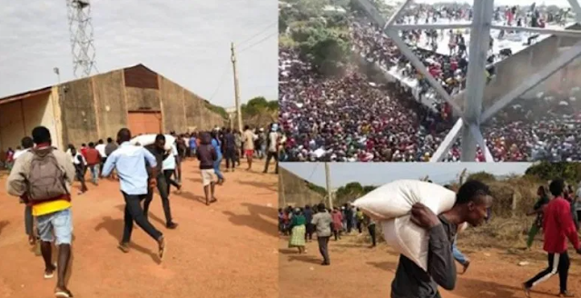 Last Massive Warehouse Full Of COVID-19 Palliatives Looted In Jos, Plateau State (Watch)