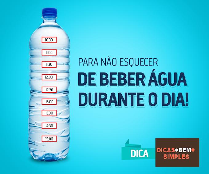 Dica Para Não Esquecer De Beber Água Durante O Dia!